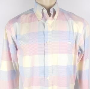 Orvis Long Sleeve Button Front Gingham Shirt M
